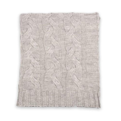 Darzzi Hampton Light Grey Throw
