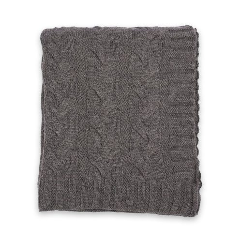 Darzzi Hampton Charcoal Grey Throw