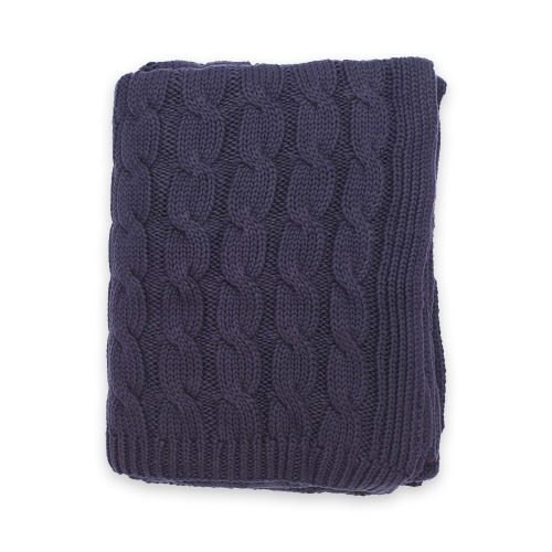 Darzzi Big Cable Navy Throw