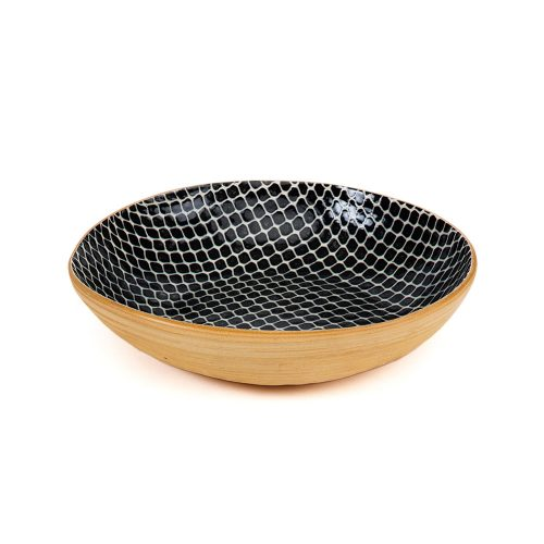 Terrafirma Ceramic Serve Bowl Black