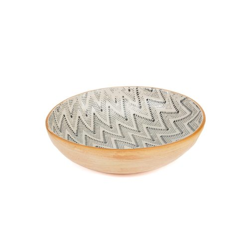 Terrafirma Ceramic Bowl Chevron Charcoal
