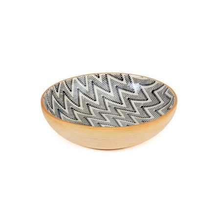 Terrafirma Ceramic Bowl Chevron Black
