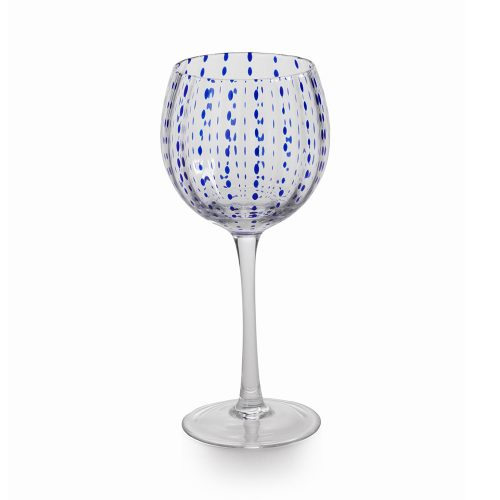 Zodax Blue Dots Goblet