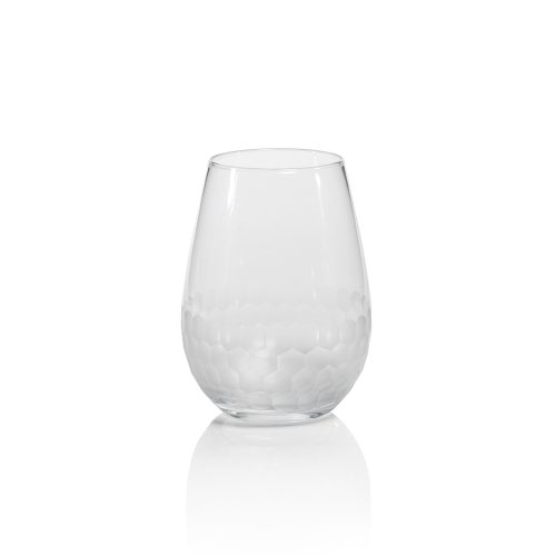 Zodax Chisel Cut Stemless Wine