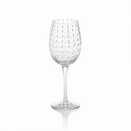 Zodax White Dots Wine Glass