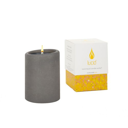 Lucid Gray Pillar Candle