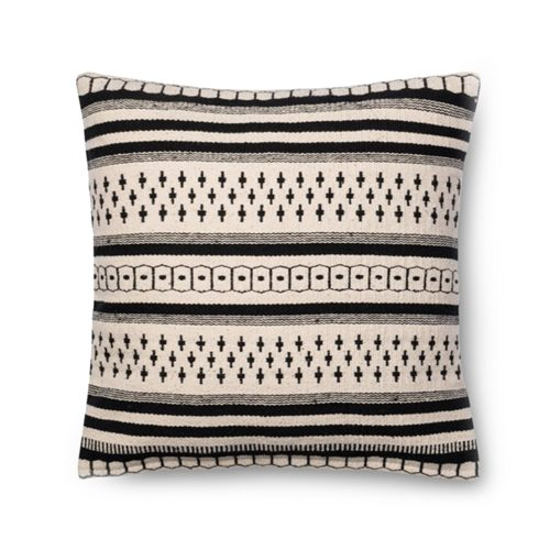 Magnolia Home Black White Tribal Stripe Pillow
