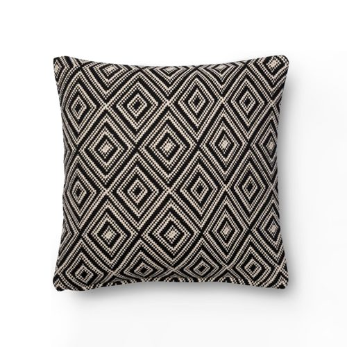 Magnolia Home Black White Diamond Pillow