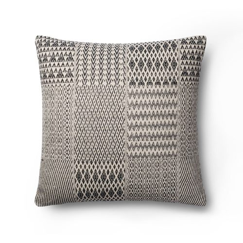 Magnolia Home Black White Ethnic Grid Pillow
