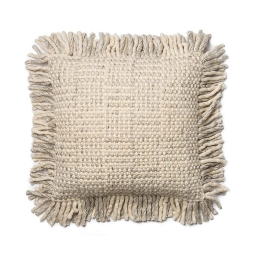 Magnolia Home Grey Ivory Basket Weave Pillow