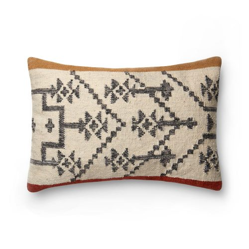 Ellen Degeneres Camel Rust Tribal Design Pillow