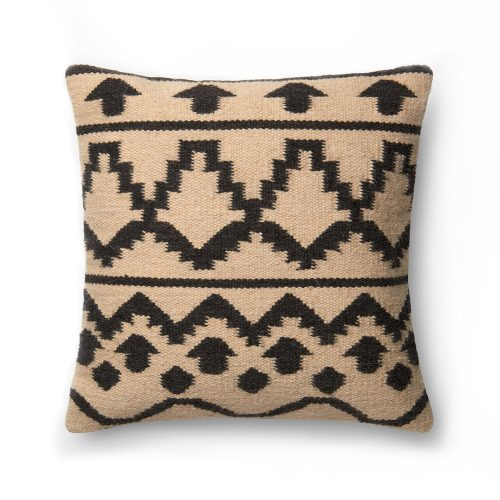 Ellen Degeneres Ivory Black Blanket Pattern Pillow