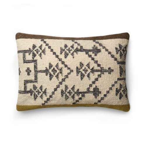 Ellen Degeneres Tribal Design Pillow Olive Taupe