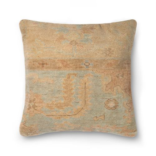Ellen Degeneres Light Blue Beige Carpet Pillow
