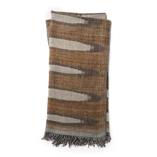 Ellen Degeneres Grey Beige Ikat Throw