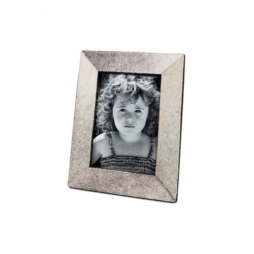 Two's Company Grey Natural Cowhide Frame