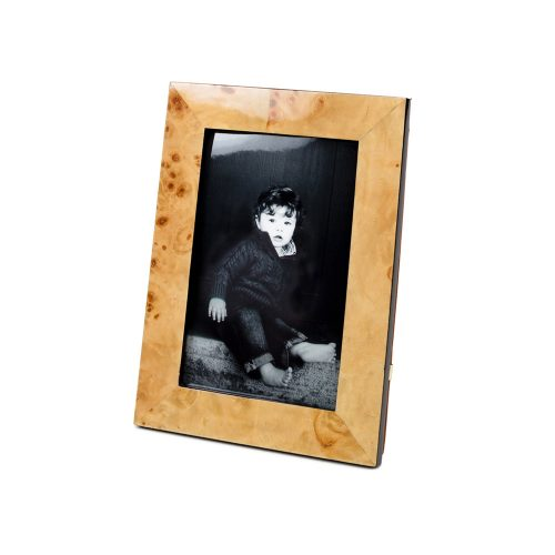 Two's Company Burled Wood Photo Frame