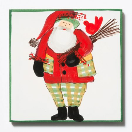 Vietri Old Saint Nick Trivet