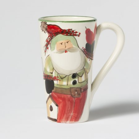 Vietri Old Saint Nick Latte Mug