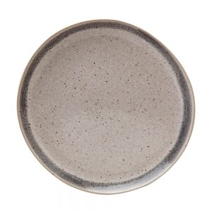 Casafina Spot On Grey Band Dinner Plate