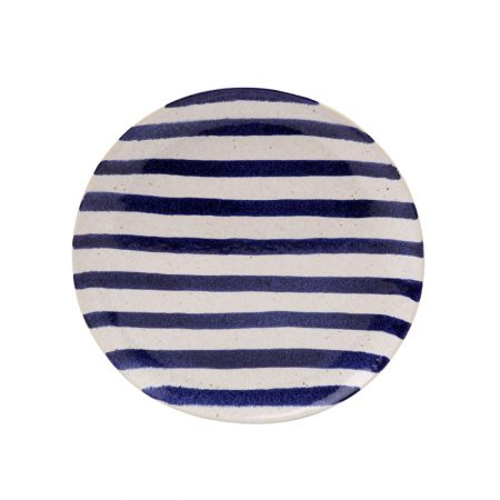 Casafina Spot On Blue Stripe Salad Plate