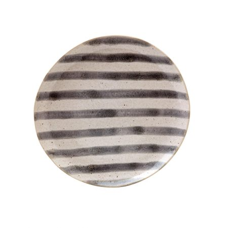 Casafina Spot On Grey Stripe Salad Plate