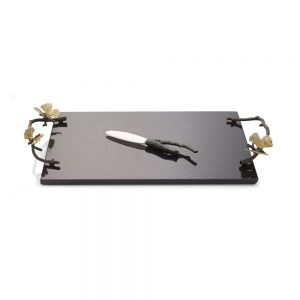 Michael Aram Butterfly Ginkgo Granite Cheese Board with Knife