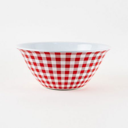 Melamine Gingham Serving Bowl