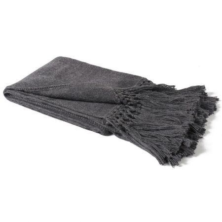 Fibre Alpaca Throw Charcoal