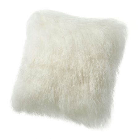 Fibre Sheepskin Cushion Ivory