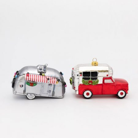 Vintage Airstream Ornament Set