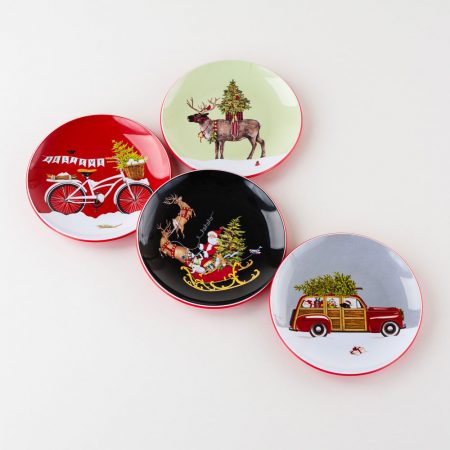 One Hundred 80 Degrees Christmas Plates