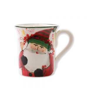 Vietri Old Saint Nick Mug
