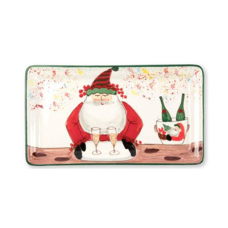 Vietri Old Saint Nick Rectangular Platter