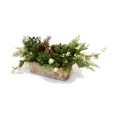 Evergreen Arrangement with White Berries