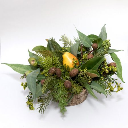 Evergreen Arrangement with Eucalyptus