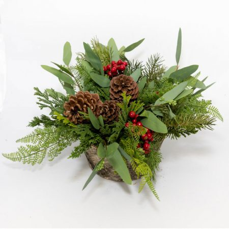 Faux Berry and Evergreen Arrangement