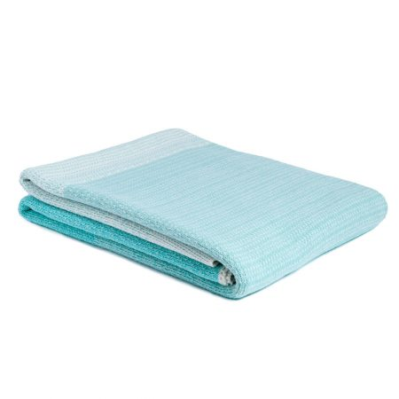 Digital Ombre Throw Seafoam