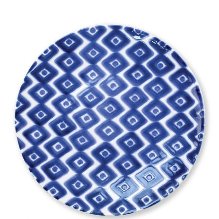 Vietri Santorini Dinner Plate Diamond