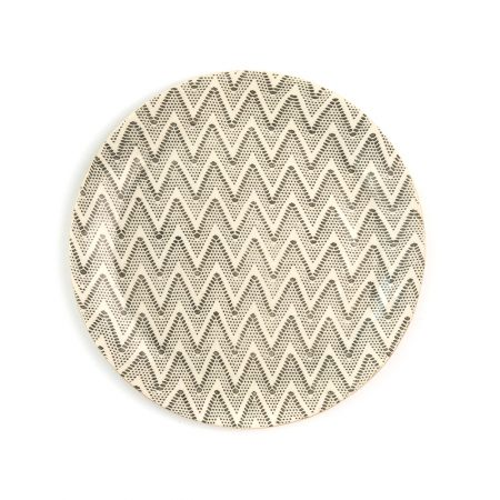 Terrafirma Charcoal Chevron Dinner Plate