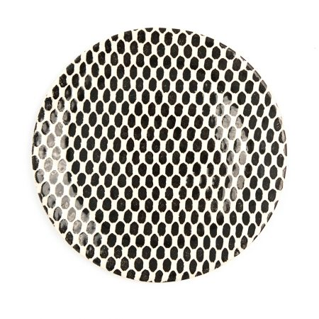 Terrafirma Black Dot Salad Plate