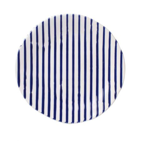 Vietri Stripe Blue Salad Plate