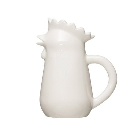 Stoneware Chicken Pitcher