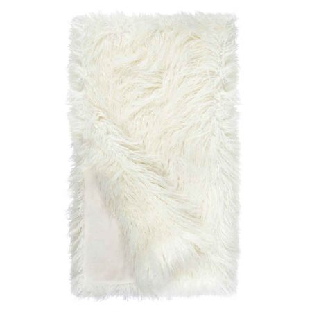 Fabulous Furs Signature Throw Ivory Tibetan Lamb