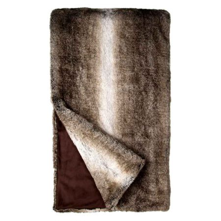 Fabulous Furs Signature Throw Grey Rabbit