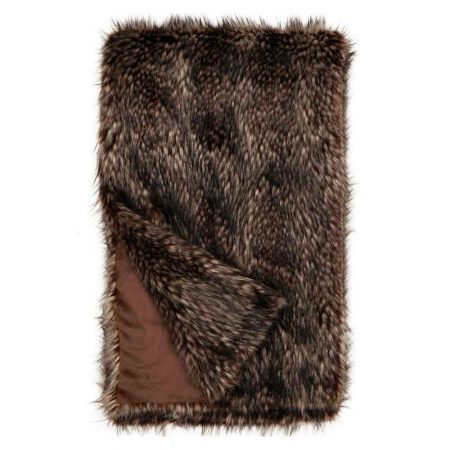 Fabulous Furs Limited Edition Faux Fur Throw Spotted Wolf