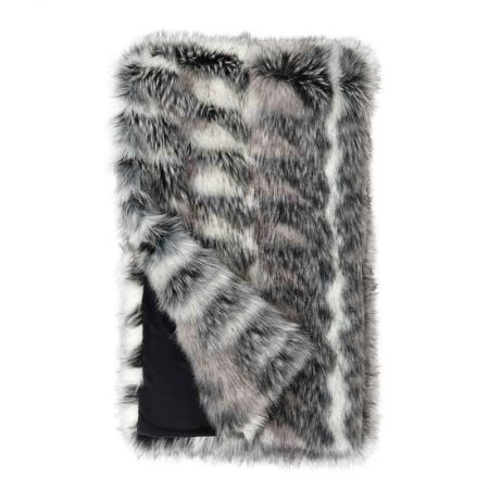 Fabulous Furs Limited Edition Faux Fur Throw Noble Wolf