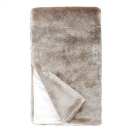 Fabulous Furs Couture Faux Fur Throw Champagne Mink