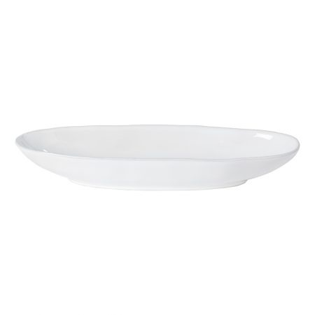 Livia Oval Platter White Small