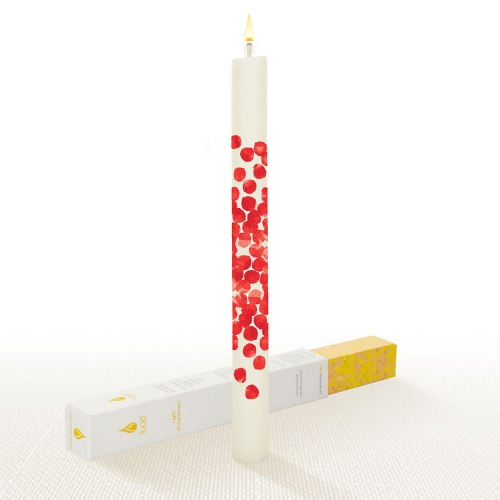 Lucid Dotty Red Dinner Candle